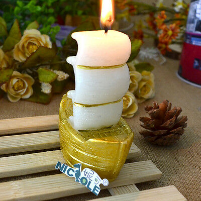 Handmade Sail Boat Silicone Candle Mold Soap Craft Decoration DIY Tools Cake
