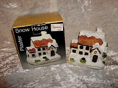 Snow House Building Plaster Winter Cottage Woolworth