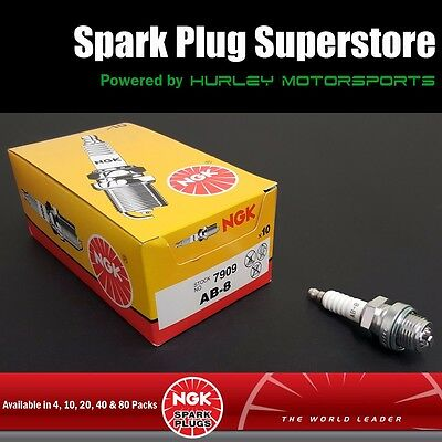 Standard Spark Plugs by NGK - Stock #7909 - AB-8 AB8 - Screw Tip - 30 Pack