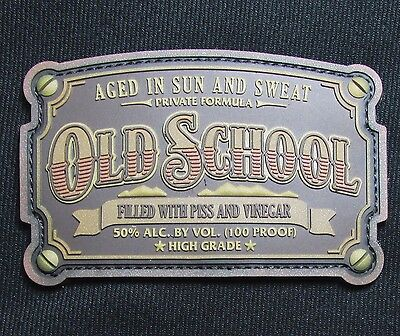 Old School Whiskey Label Us Army Usa Military 3D Pvc Bronze Morale Hook Patch