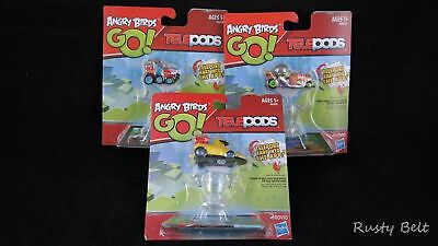 Angry Birds Go! EXCLUSIVE YELLOW BIRD , The Blues, Corporal Pig Telepods LOT