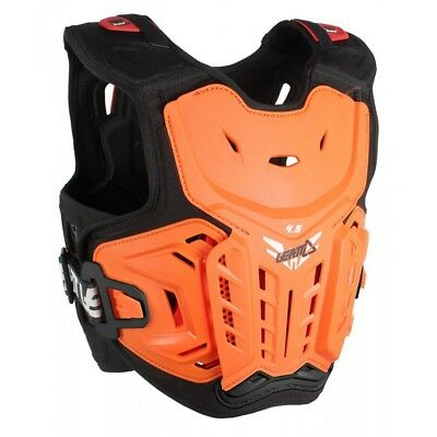 Leatt NEW Youth Mx 4.5 Orange Chest Protector Guard Motocross Kids Body Armour