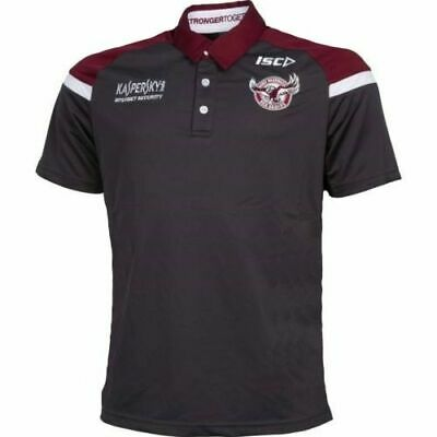 Manly Sea Eagles NRL Carbon Media Polo Shirt 'Select Size' S-5XL BNWT5