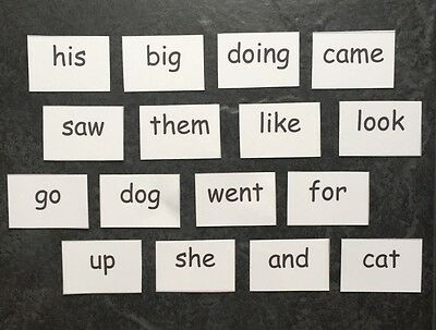 NEW FLASH CARDS Reception EYFS First 54 High Frequency Words Age 3-5 Reading Aid