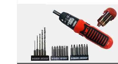 NEW BLACK&DECKER 71-792c Electric Screw Driver Drill/Drive 19pc Set