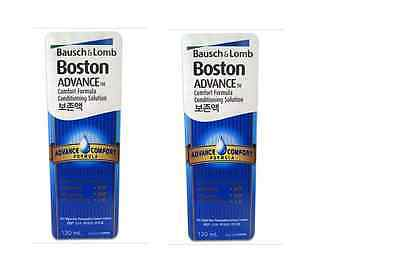 2 x  120ml Boston Advance Conditioning Solution Lens Cleaner