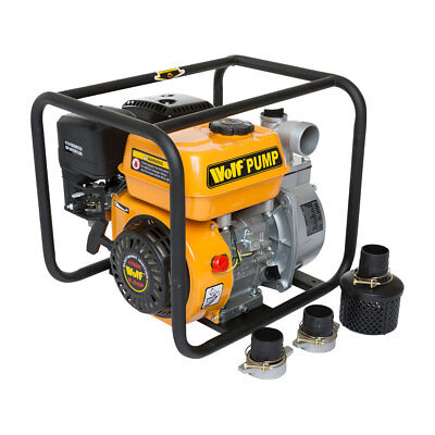 Wolf 2'' Portable Petrol Driven Water Pump 5.5HP 4 Stroke Engine