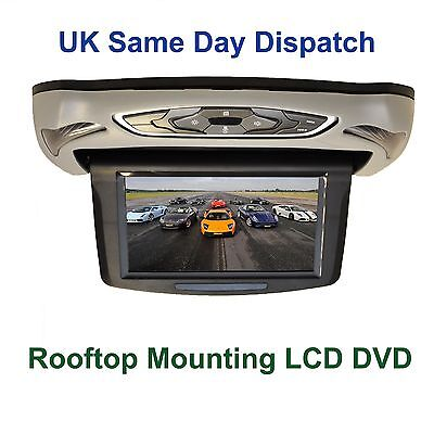 10'' HD In-Car Roof Mounted Flip Down DVD Player with HDMI USB SD Multi Color
