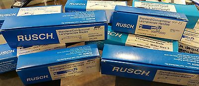 Lot of NEW RUSCH Laryngoscope Handles and Blades - Package of 14 Items