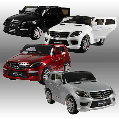 Mercedes Benz Ml63 Amg Licensed 12V Kids Ride On Car Battery Remote Control Cars