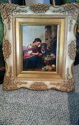 Stunning Antique Rare Porcelain  Plaque By Max  Grotsch- Nach B.e. Murillo