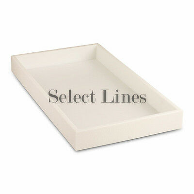 """White Stackable Standard Plastic Tray Display 1-1/2"""" H"""