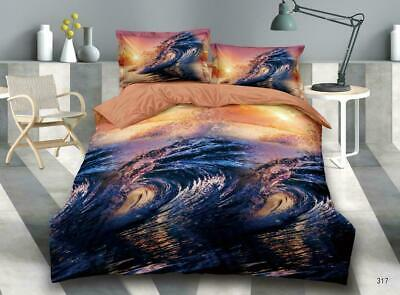 3D Effect Bedding Complete Set(S101)With Duvet Cover,Pillow Cases & Fitted Sheet