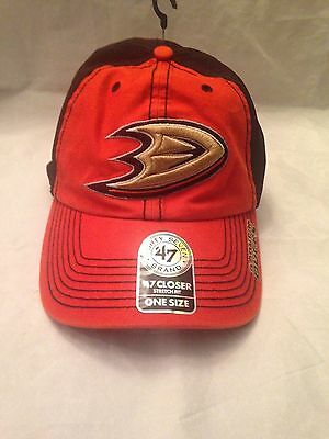 95e387172f1 Anaheim Ducks NEW Adult Ripley Adjustable  47 Brand Hat. NHL Hockey Cap Fan