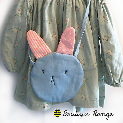 Handmade Cute Girls Bunny Mini Cotton Shoulder Handbag/Kids gift/Party Gift