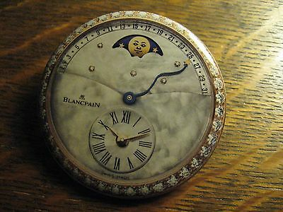 Blancpain Pocket Mirror - Repurposed Moon Watch Magazine Ad Lipstick Mirror
