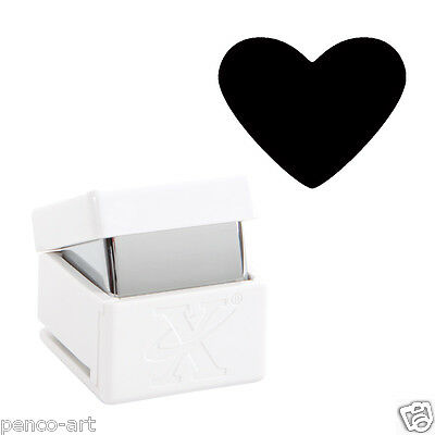 """Xcut HEART palm hole punch Card Craft cut up to 300gsm Choose 3/8"""", 5/8"""" or 1"""""""