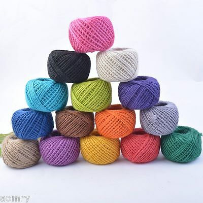 50M 3Ply Burlap Natural Fiber Jute Twine Rope Cord String Craft DIY Gift Deco