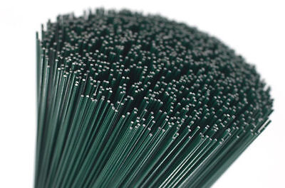 Lacquered Florists Thin Stub Wire Choice Of Length 250g Gauge 22 Green