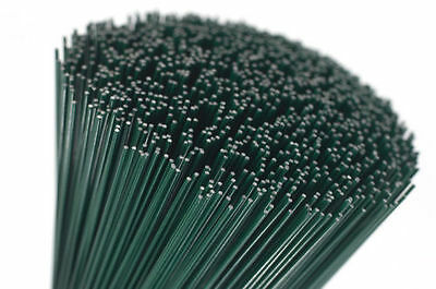 250g green lacquered Florists Thin Stub Wire 18 Gauge CHOICE OF LENGTH