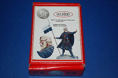 Soldiers SA-57 - Templar Sergeant with Banner Around 1200 scala 54mm