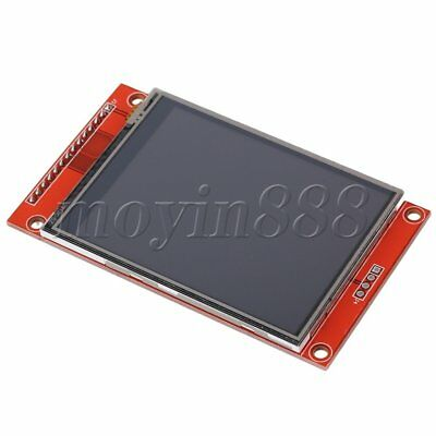 """LCD Touch Panel 240 x 320 2.8"""" SPI TFT Serial Port Module With PBC ILI9341 Red"""