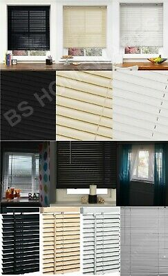 Pvc Blinds Window Venetian Easy Fit Home Office Blind All Size Black,Cream,White