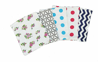 Five Double Layer Cotton Flannel New born baby absorment burp Cloth Diaper Wipes