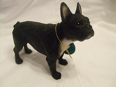 Statue de collection LEONARDO -  BOULEDOGUE FRANCAIS FONCE