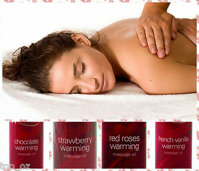 New Heavenly Nights Warming Massage Oil Pack of 4 - Heat Up U Body at the Touch