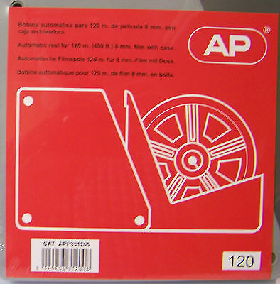 AP  400 ft. 120 m. Cine film reel and can NEW - LIMITED STOCK