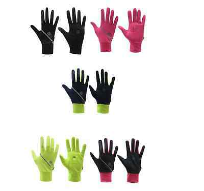 Karrimor Hombre Mujer Unisex Correr Ligero Guantes Negros Amarillo Rosa Fluo