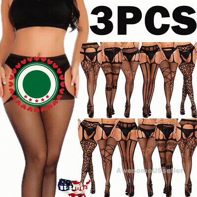 Pantyhose Socks Tights Women Stockings Nylon Hold Up New Lace Sheer Plus Size