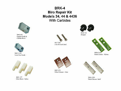 Biro Saw Kit Up/low Guide-Carbide Fill Blocks Stud Wheel/blade Cleaners & Bumper