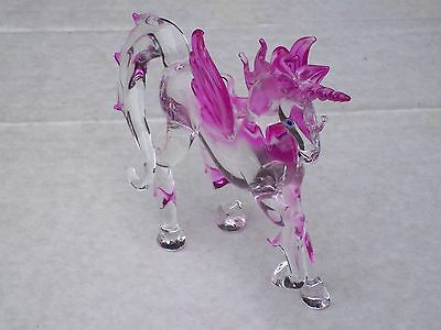 Large PEGASUS@CUTE Fantasy Creature@Mythical Winged Beast@Unique Glass Gift@PINK
