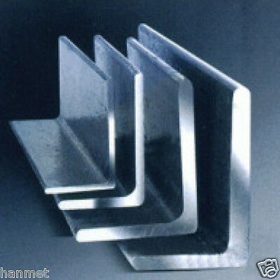 304 Stainless Steel Angles Size 20-100mm Wall Thick 3-10mm Various  Lengths