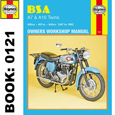 BSA A7 Golden Flash Road Rocket Gold Star 1947-62 Haynes Workshop Manual