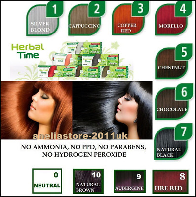 + Free Shampoo Natural Henna Colour Cream Herbal Hair Colorant Dye Ready To Use