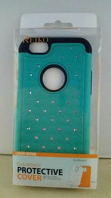 Diamond Hybrid Protector Cover for iPhone6 4.7inch BLACK GREEN