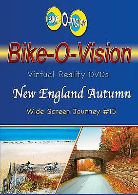 "Bike-O-Vis​ion Cycling Video, ""New England Autumn"" Widescreen"