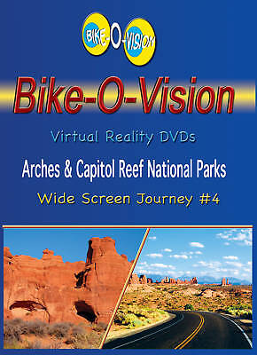 """Bike-O-Vision Cycling Video, """"Arches & Capitol Reef Natl Parks"""" Widescreen DVDs"""