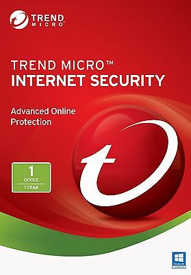 TREND MICRO iNTERNET sECURITY 11/2017 2016 - 1AN/YEAR  1PC/USER (ALL LANGUAGES)
