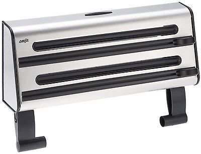 Contura - Triple Roll Dispenser for foil cling film and paper towel. Black