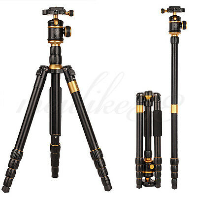 Q888 Portable Travel Tripod Monopod Aluminum For DSLR DV Video Camera Camcorder