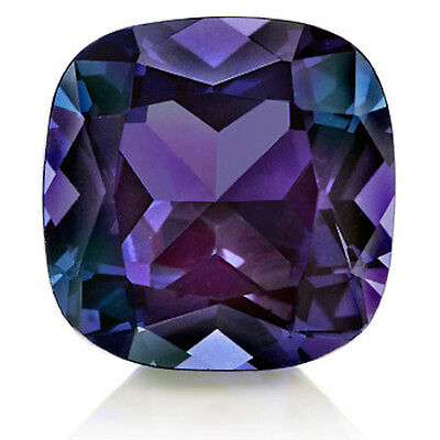 Lab-Created Pulled Alexandrite Color Change Cushion Loose stone (3x3-25x25)