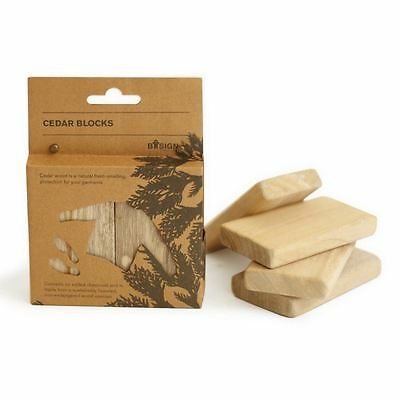 Bosign Natural Aromatic Cedar Wood Blocks - Clothes Freshener, 4 or 8 Blocks