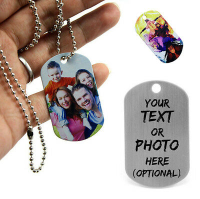Personalised Custome Military Army Dog Tags ID Tag Necklace Pendant Engraved