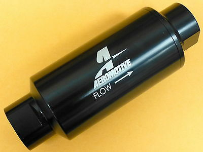 Aeromotive 12324 ORB -10 AN #10 In Line Fuel Filter 100 Micron Black