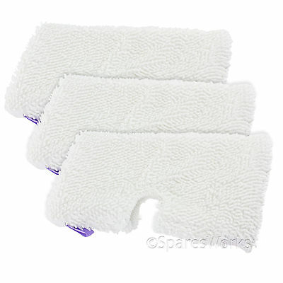3 x Microfibre Pad Covers for Shark S2901 S3501 S3502 S3601 S3701 Steam Cleaner