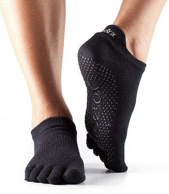 ToeSox Full Toe Low Rise Pilates Yoga Dance Martial Arts Non Slip Grip Socks